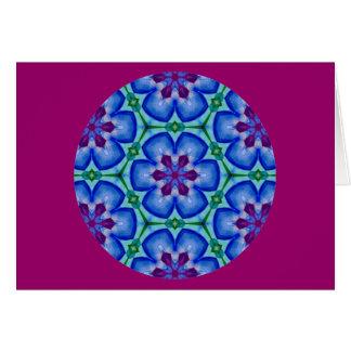Kaleidoscopic Mandala Floral Design.2 Card