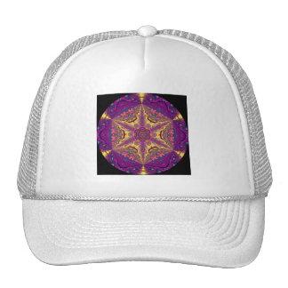 Kaleidoscopic Mandala Starburst Design 2 Mesh Hats
