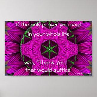 "Kaleidoscopic Mandala ""Thank You"" Poster"
