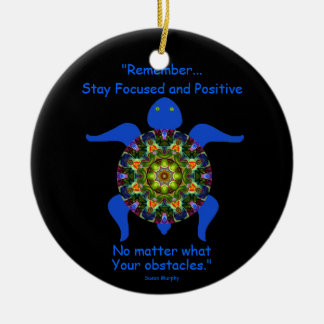 Kaleidoscopic Mandala Turtle Ornament.8 Christmas Ornament
