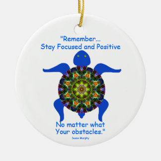 Kaleidoscopic Mandala Turtle Ornament.8 Christmas Ornament