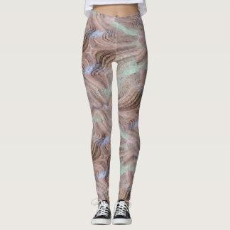 Kaleidoscopic Stripe Patterned Leggings
