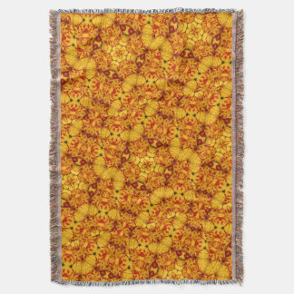 Kaleidoscopic Triandrus Daffodils Throw Blanket