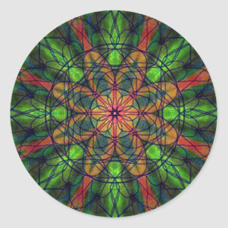 Kaleidoscopic Vision Round Sticker
