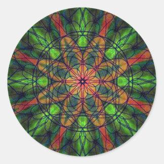 Kaleidoscopic Vision Round Sticker
