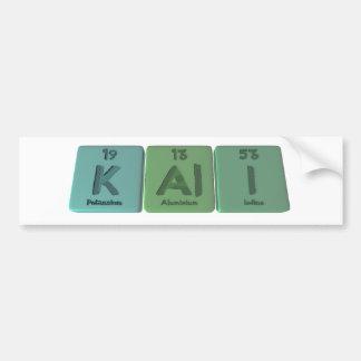 Kali as Potassium Aluminium Iodine Car Bumper Sticker