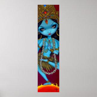 Kali hindu goddess gothic Art Print