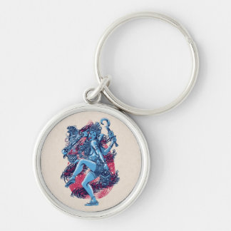 Kali Silver-Colored Round Key Ring