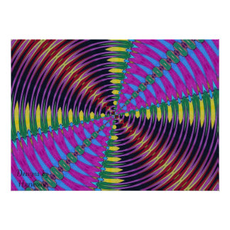 Kalidescope Butterfly Small Poster