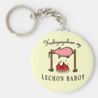 """""""Kaligayahan ay Lechon Baboy"""" Keychain"""