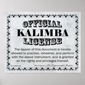 Kalimba License Poster