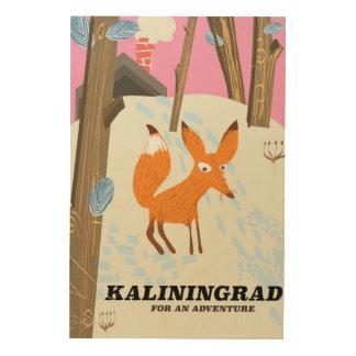 "Kaliningrad ""for an adventure"" travel poster"