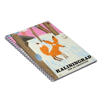 "Kaliningrad ""for an adventure"" travel poster notebook"