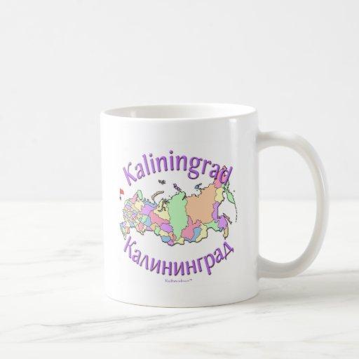 Kaliningrad Russia Map Coffee Mugs
