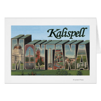 Kalispell, Montana - Large Letter Scenes Card