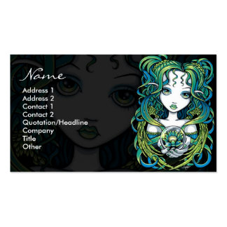 Kallan Green Lotus Water Angel Business Cards