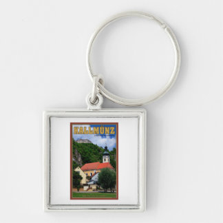 Kallmunz Church and Castle Ruins Silver-Colored Square Key Ring