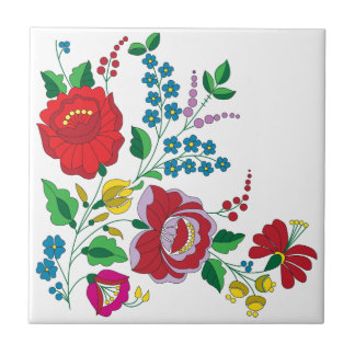Kalocsa Embroidery Tile