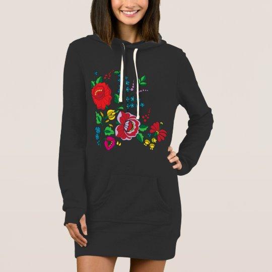 Kalocsa Embroidery Women's Hoodie Dress