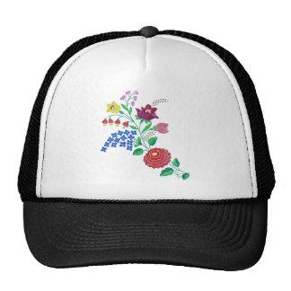 Kalocsai Flower Stem Mesh Hat