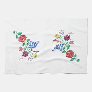 Kalocsai Flower Stem Tea Towel