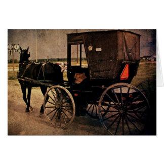 Kalona, Iowa Amish Buggy, Birthday Card