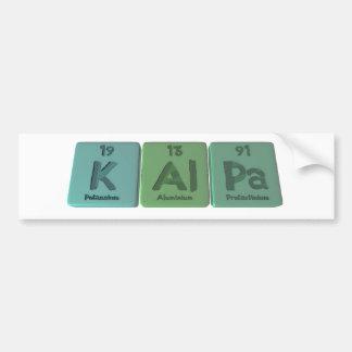 Kalpa-K-Al-Pa-Potassium-Aluminium-Protactinium.png Bumper Sticker
