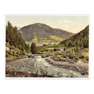 Kals, Tyrol, Austro-Hungary magnificent Photochrom Postcard