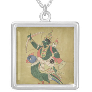 Kama, God of Love, 18th-19th century Silver Plated Necklace