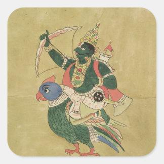 Kama God of Love 18th-19th century Square Sticker