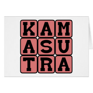 Kama Sutra, Adult Instruction Manual Greeting Card