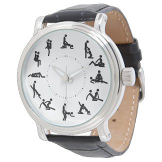 kama sutra figures vintage leather watch