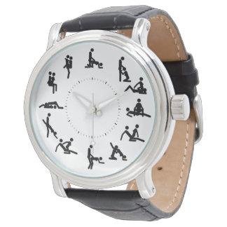 kama sutra figures vintage leather watch