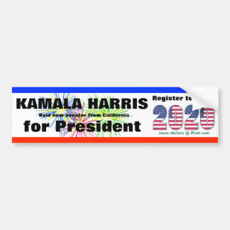 KAMALA HARRIS  FOR PRESIDENT - 2020 - BUMPER STICKER