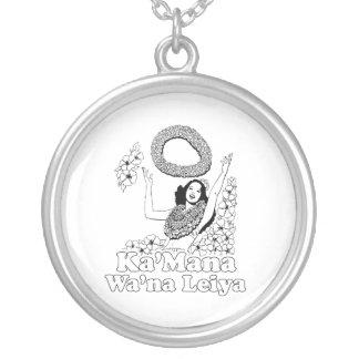 Ka'mana Wana Lei Ya Round Pendant Necklace