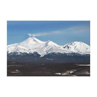 Kamchatka Peninsula: winter view of Avacha Volcano Canvas Print