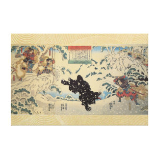 Kamei Rokuro and the Black Bear in the Snow Gallery Wrap Canvas