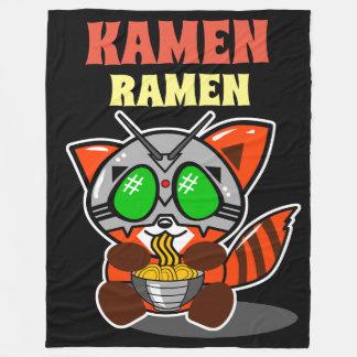 KAMEN RAMEN RED PANDA THROW BLANKET