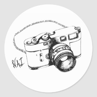 Kamera Klub (Stickers) Classic Round Sticker