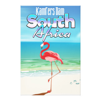 Kamfers Dam South African travel poster Canvas Print
