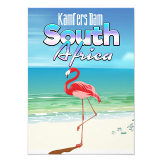 Kamfers Dam South African travel poster Photo Print