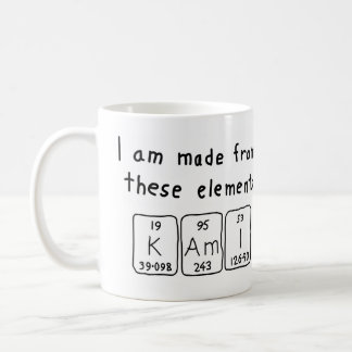Kami periodic table name mug