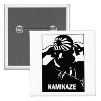 Kamikaze 15 Cm Square Badge