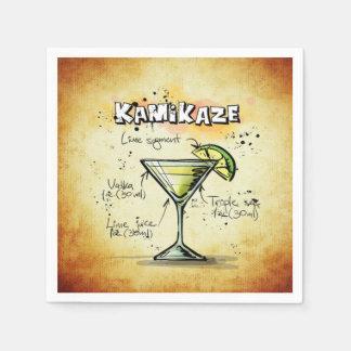 Kamikaze Bartender Drink Recipe Paper Serviettes