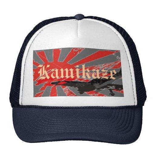 Kamikaze Bomber Japanese Rising Su... - Customized Mesh Hats