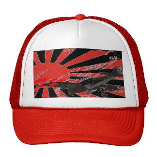 Kamikaze Bomber Japanese Rising Sun Flag - Custom Cap