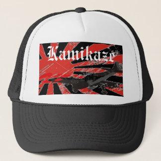 Kamikaze Bomber Japanese Rising Sun Flag HatCustom Trucker Hat