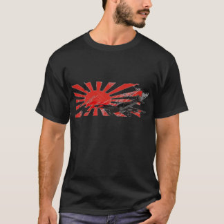 Kamikaze Bomber Japanese Rising Sun Flag T-shirt