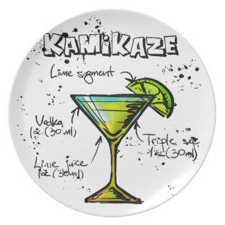 Kamikaze Cocktail Recipe Plate