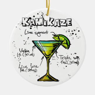 Kamikaze Cocktail Recipe Round Ceramic Decoration